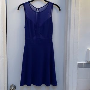 Silence+Noise Blue Fit&Flare Dress Size S